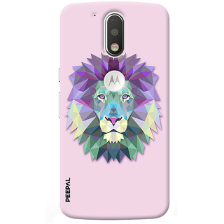 PEEPAL Motorola G4 Plus Designer & Printed Case Cover 3D Printing Artist Wolf Design
