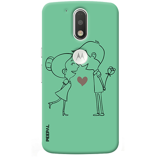 PEEPAL Motorola G4 Plus Designer & Printed Case Cover 3D Printing Love Design
