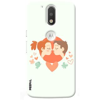 PEEPAL Motorola G4 Plus Designer & Printed Case Cover 3D Printing Love Kiss Design