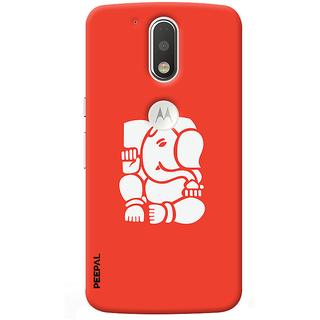 PEEPAL Motorola G4 Plus Designer & Printed Case Cover 3D Printing Ganesha Design