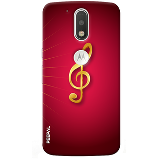 PEEPAL Motorola G4 Plus Designer & Printed Case Cover 3D Printing Music Sign Design