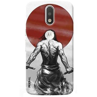 PEEPAL Motorola G4 Plus Designer & Printed Case Cover 3D Printing Warrior Design