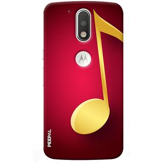 PEEPAL Motorola G4 Plus Designer & Printed Case Cover 3D Printing Music Sign Design