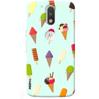 PEEPAL Motorola G4 Plus Designer & Printed Case Cover 3D Printing Ice Cream Love Design