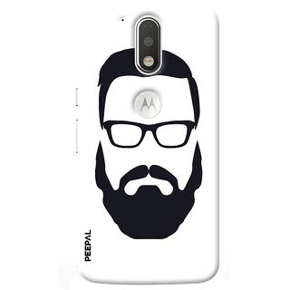 PEEPAL Motorola G4 Plus Designer & Printed Case Cover 3D Printing Beard Design