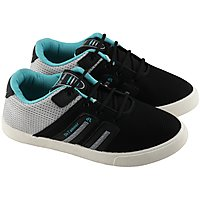 Birde Black  White Canvas Casual Shoes For Mens