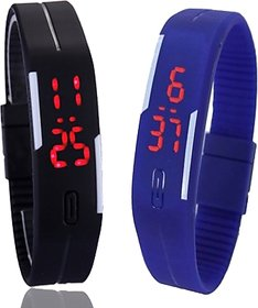 NEW brand  Combo Led watch for kid (MANGNETIC BLUE BLACK )