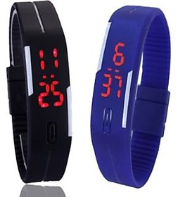 Best NEW Combo Led watch for kid ( MANGNETIC BLUE BLACK )