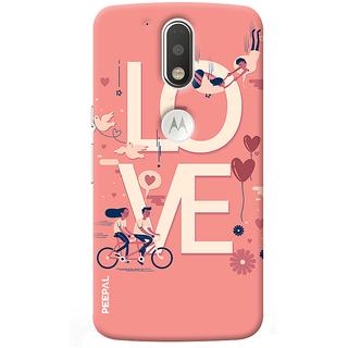 PEEPAL Motorola G4 Plus Designer & Printed Case Cover 3D Printing Love Design