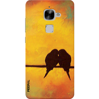 PEEPAL LeTv Le2 Designer & Printed Case Cover 3D Printing Love Birds Design
