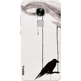PEEPAL LeTv Le2 Designer & Printed Case Cover 3D Printing Lonely Crow Design