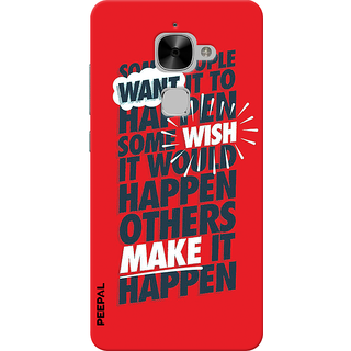 PEEPAL LeTv Le2 Designer & Printed Case Cover 3D Printing Quote  Design