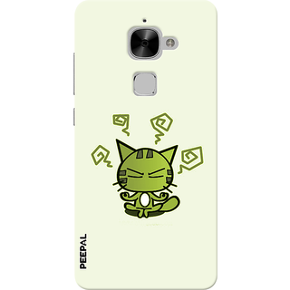PEEPAL LeTv Le2 Designer & Printed Case Cover 3D Printing Angry Cat Design
