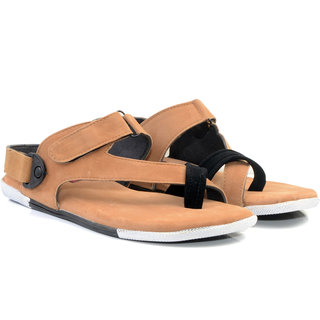 Lee Peeter Men's Tan Valco Sandals