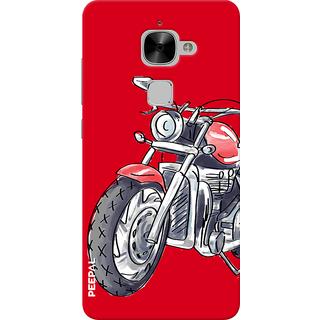 PEEPAL LeTv Le2 Designer & Printed Case Cover 3D Printing Ride Motorcycle Design