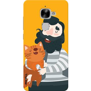 PEEPAL LeTv Le2 Designer & Printed Case Cover 3D Printing Cat Love Design