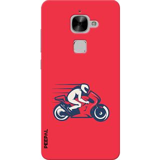 PEEPAL LeTv Le2 Designer & Printed Case Cover 3D Printing Rider  Design