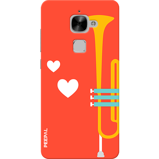 PEEPAL LeTv Le2 Designer & Printed Case Cover 3D Printing Music Is Love Design