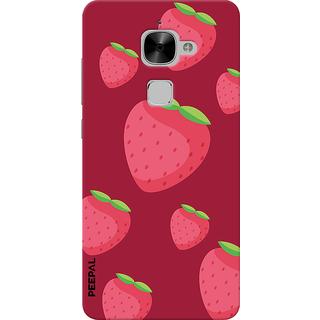 PEEPAL LeTv Le2 Designer & Printed Case Cover 3D Printing Strawberry Design
