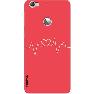 PEEPAL LeTv Le1s Designer & Printed Case Cover 3D Printing Heart Beat Design