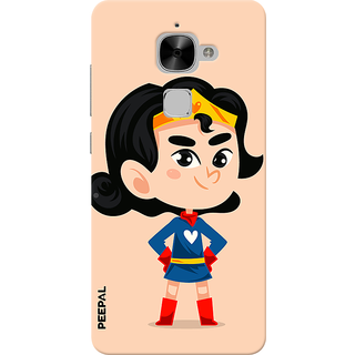 PEEPAL LeTv Le2 Designer & Printed Case Cover 3D Printing Junior Wonder Woman Design