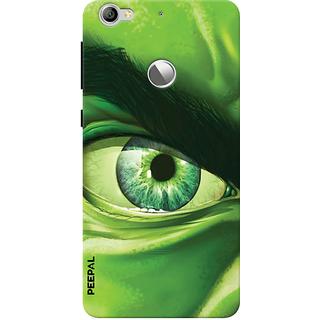 PEEPAL LeTv Le1s Designer & Printed Case Cover 3D Printing Eye Hullk Design