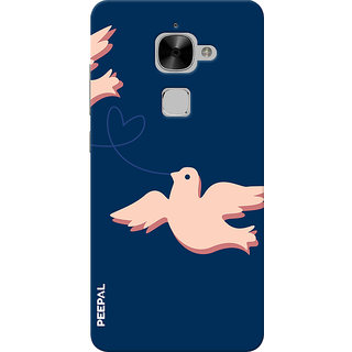 PEEPAL LeTv Le2 Designer & Printed Case Cover 3D Printing Love Birds Design