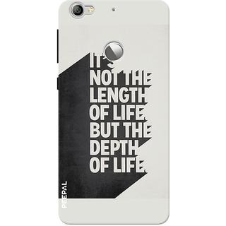 PEEPAL LeTv Le1s Designer & Printed Case Cover 3D Printing Quote Design