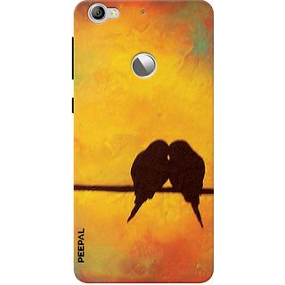 PEEPAL LeTv Le1s Designer & Printed Case Cover 3D Printing Love Birds Design