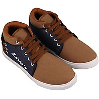 Birde Brown  Blue Canvas Sneakers For Mens