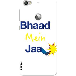 PEEPAL LeTv Le1s Designer & Printed Case Cover 3D Printing Bhaad Mein Jaa Design
