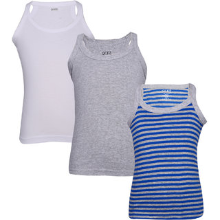 Gkidz Boys Pack Of 3 Yarndyed Rib Vest
