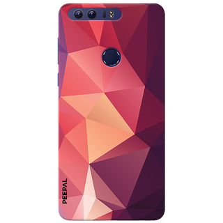 PEEPAL Honor 8 Designer & Printed Case Cover 3D Printing Art Multi Colour Design