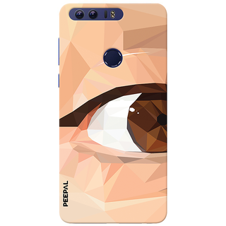 PEEPAL Honor 8 Designer & Printed Case Cover 3D Printing Eye Multi Colour Design