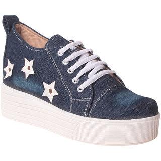 MSC Women Blue Denim Shoes