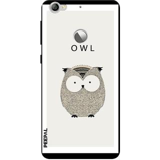 PEEPAL LeTv Le1s Designer & Printed Case Cover 3D Printing OWL Design