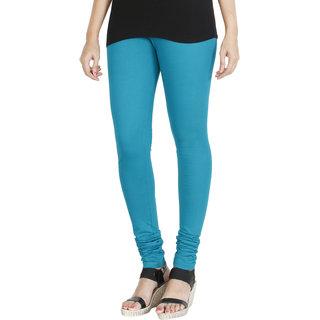 HRINKAR BLUE Soft Cotton Lycra Plain leggings for girls combo Size - L XL XXL - HLGS1537-L