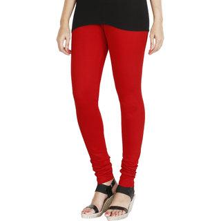 HRINKAR RED Soft Cotton Lycra Plain leggings womens and girls combo Size -  L 5a81875100