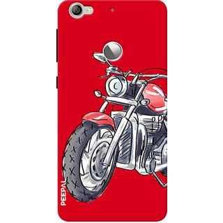 PEEPAL LeTv Le1s Designer & Printed Case Cover 3D Printing Ride Motorcycle Design
