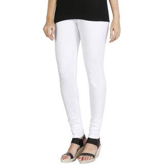 HRINKAR WHITE Soft Cotton Lycra Plain leggings for girls combo Size - L XL XXL - HLGS1539-XXL