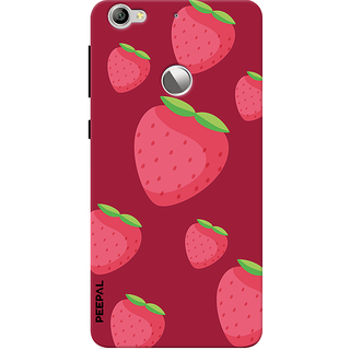 PEEPAL LeTv Le1s Designer & Printed Case Cover 3D Printing Strawberry Design