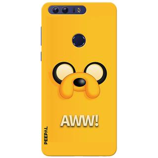 PEEPAL Honor 8 Designer & Printed Case Cover 3D Printing AWWW Design