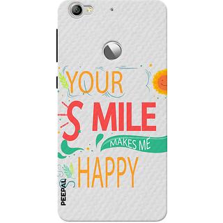 PEEPAL LeTv Le1s Designer & Printed Case Cover 3D Printing Smile Makes Me Happy Design