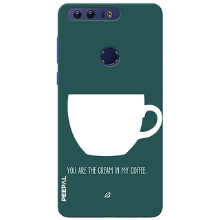 PEEPAL Honor 8 Designer & Printed Case Cover 3D Printing Coffee Love Design