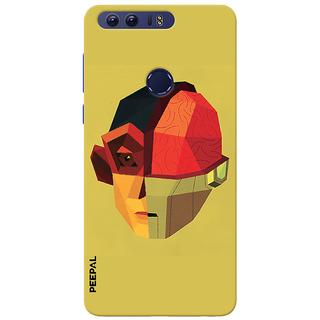 PEEPAL Honor 8 Designer & Printed Case Cover 3D Printing Mind Vs Technology Design