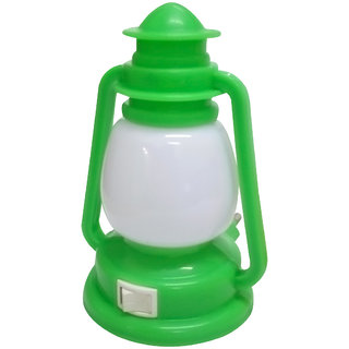 Cocodoes LED Night Lamp With ON-OFF Batton Wall Laltain (Green)
