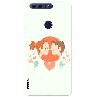 PEEPAL Honor 8 Designer & Printed Case Cover 3D Printing Love Kiss Design