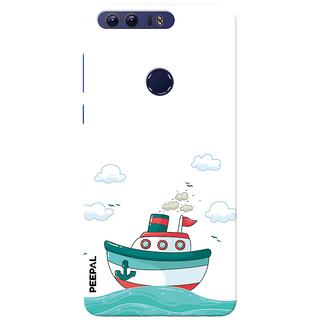 PEEPAL Honor 8 Designer & Printed Case Cover 3D Printing Sailing Design