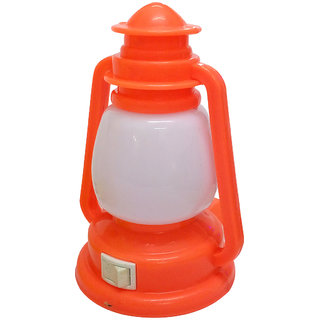 Cocodoes LED Night Lamp With ON-OFF Batton Wall Laltain (Orange)