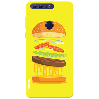 PEEPAL Honor 8 Designer & Printed Case Cover 3D Printing Food Love Design
